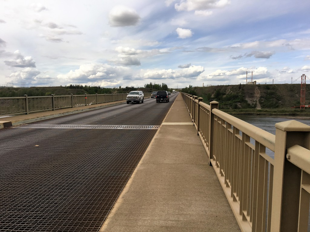 Bridge across the peace river