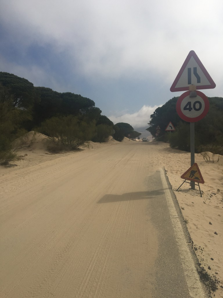 This is the road that was covered in sand. It should have been a warning to me that all was not well up ahead.