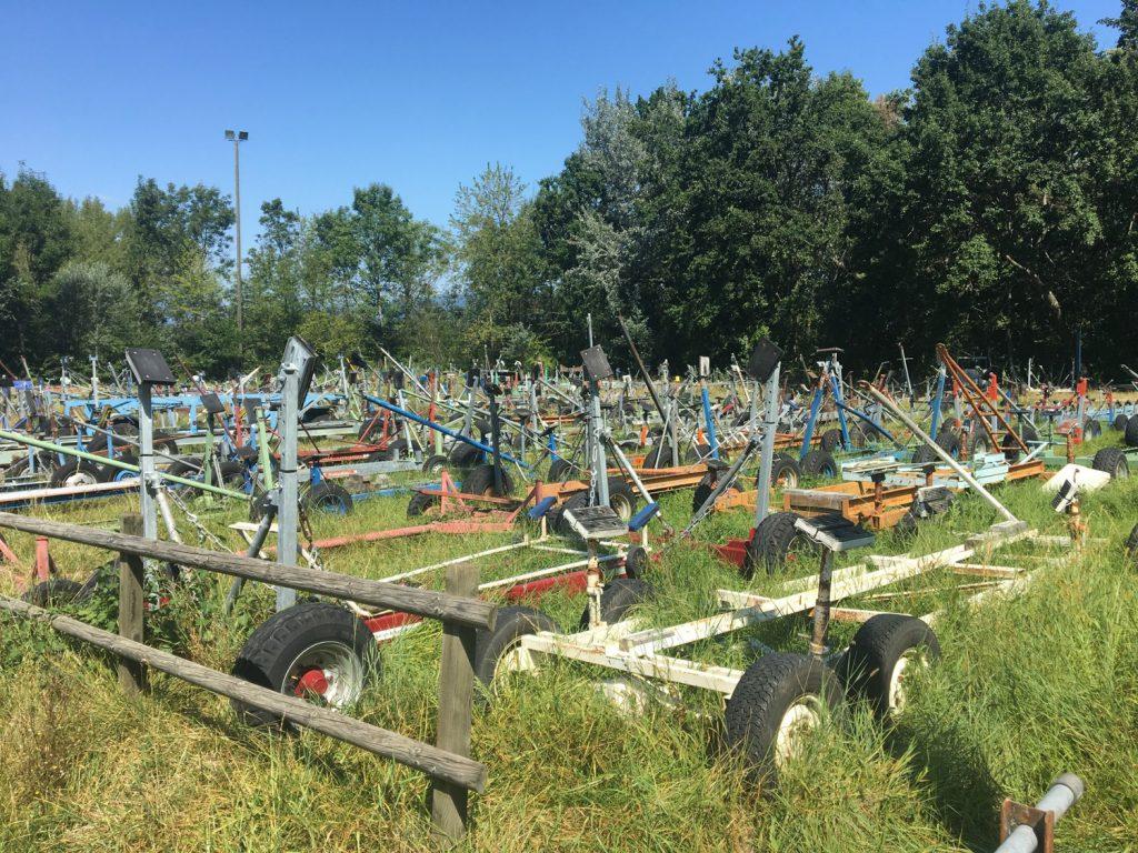 Boat trailer graveyard