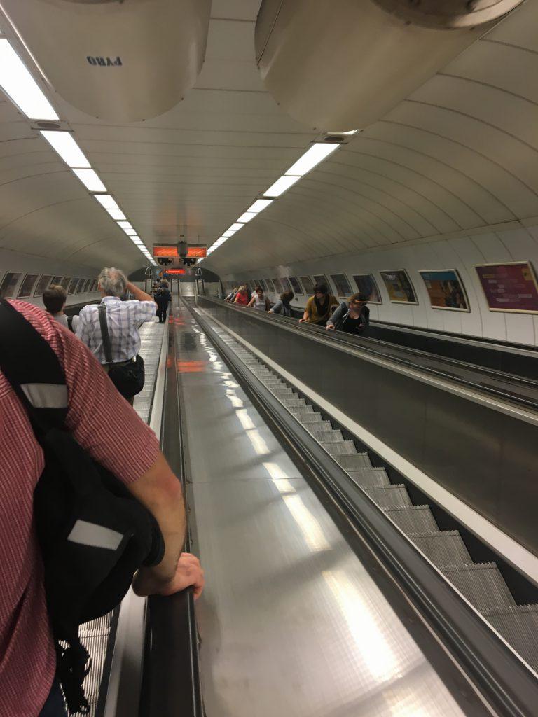 The longest escalator that I've ever seen.
