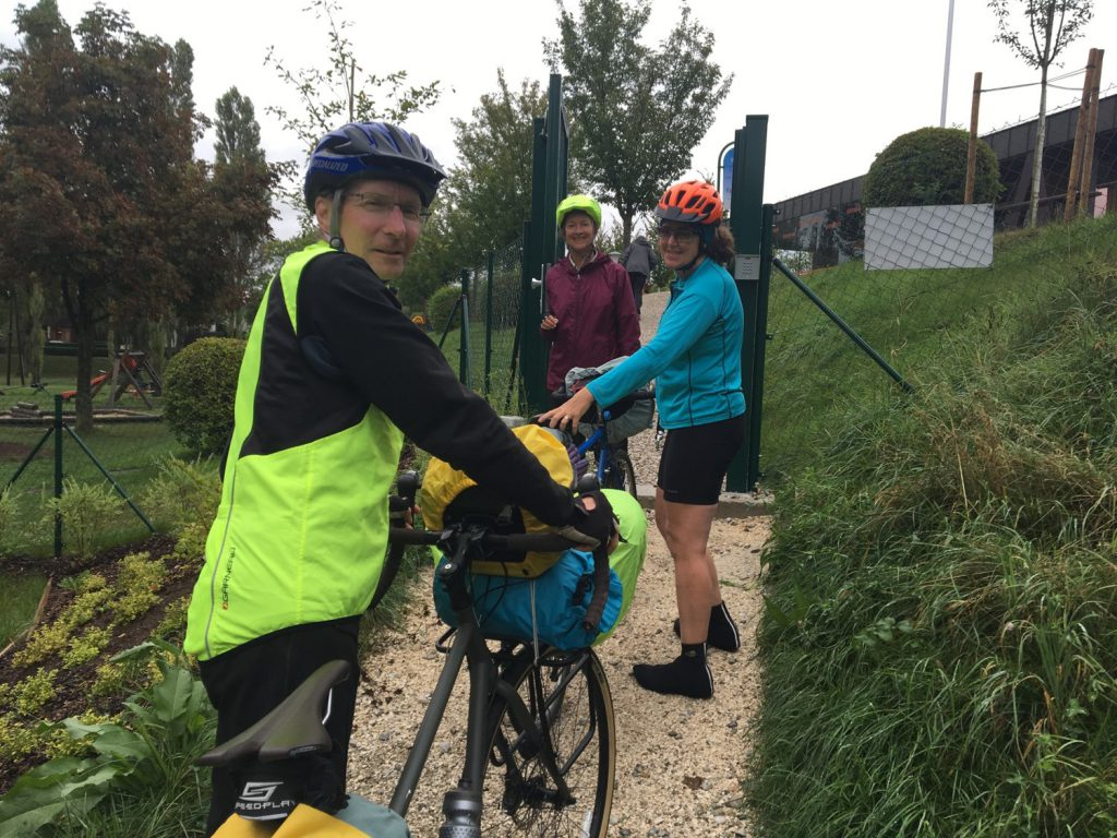 The Prague Pedalers brave the weather