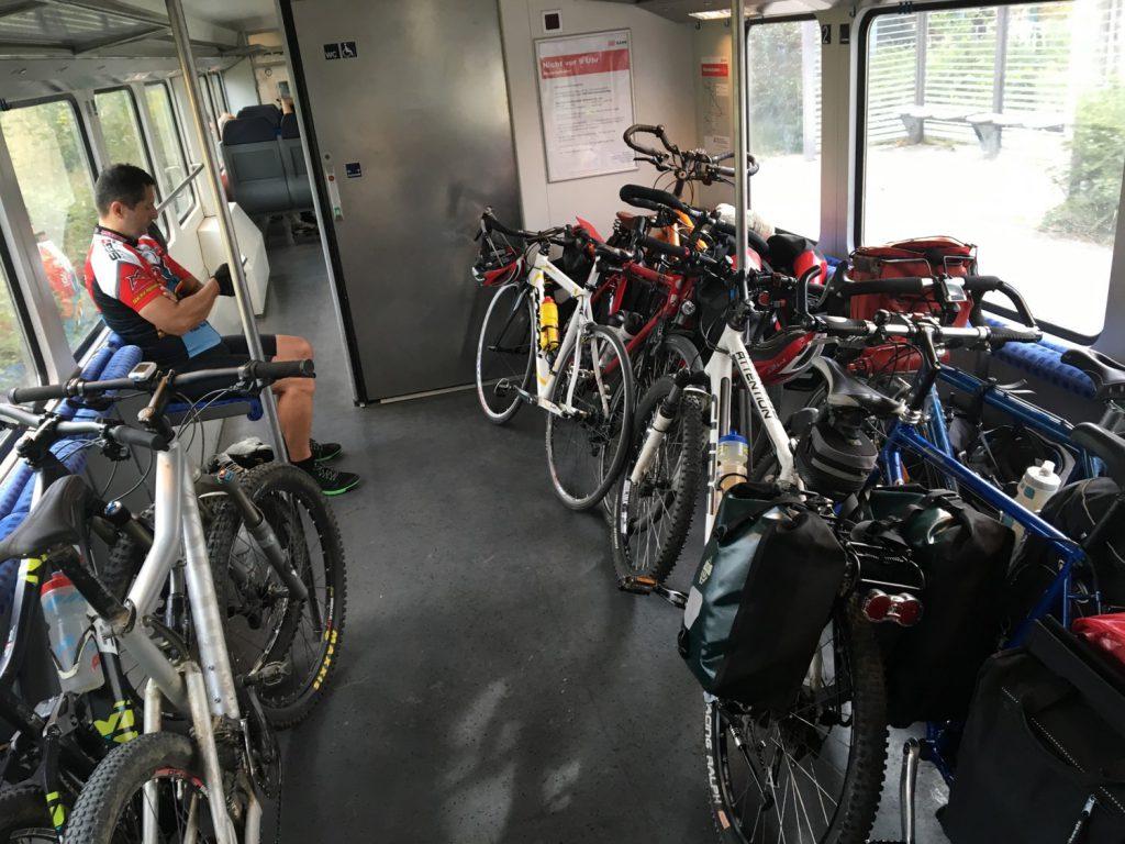 Train full of bikes