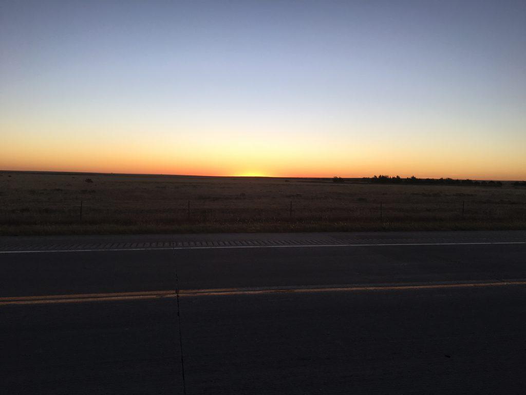 Sunrise near Springfield, CO