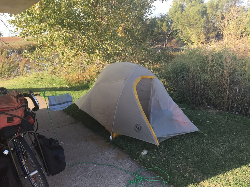 Wild Camping at a rest stop near Post Texas