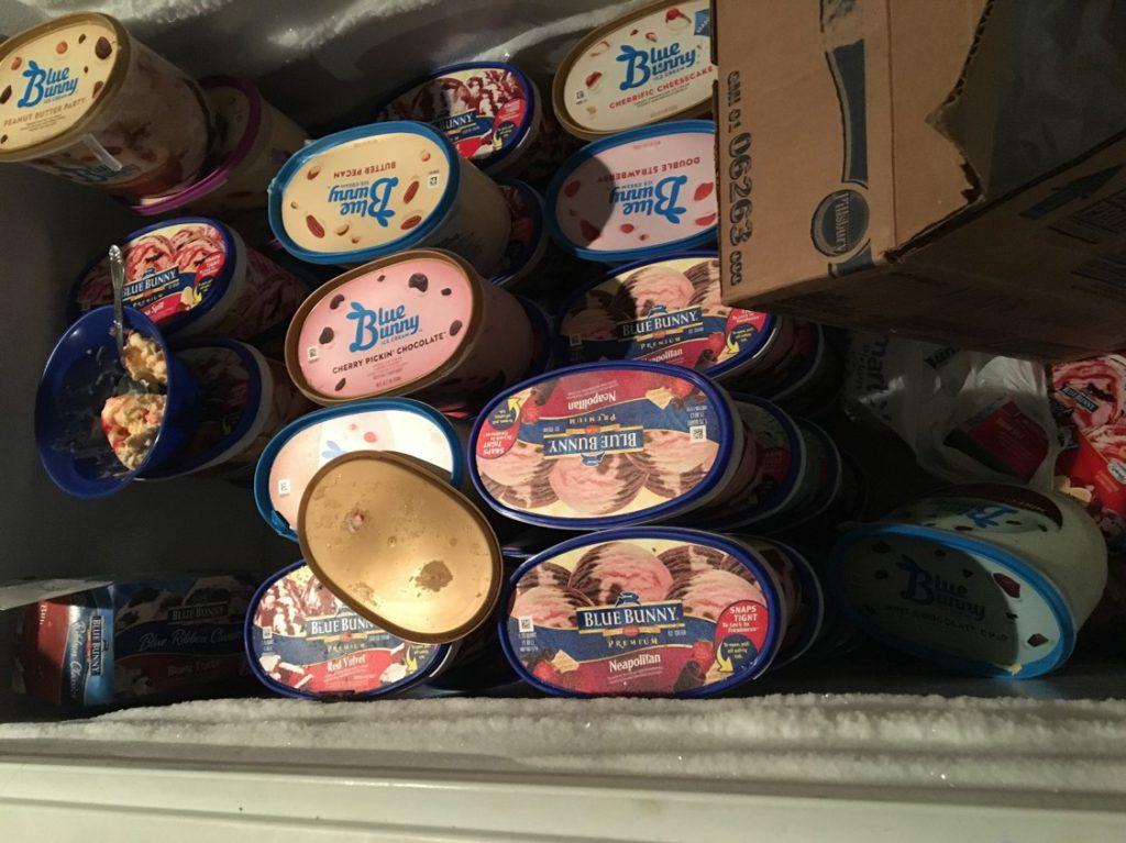 Ice cream--a freezer full