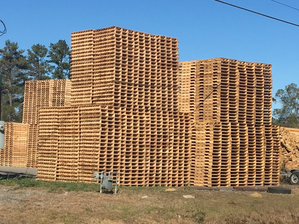 I've passed several lumber mills. This one makes pallets.